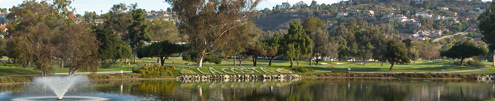 View of pond on La Costa golf course